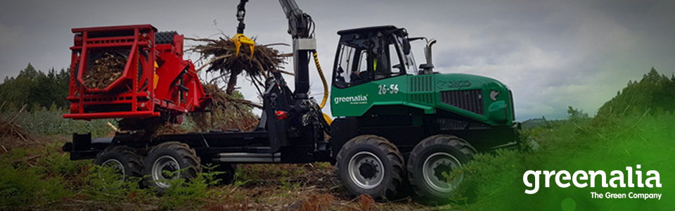 GREENALIA RECEIVES THE FIRST MACHINES FOR THE COLLECTION OF BIOMASSESES, AND BEGINS THE CLEANING OF THE GALICIAN FORESTS