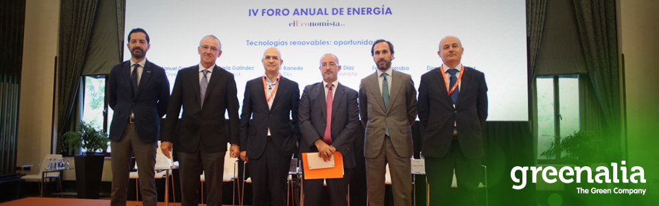 Greenalia Participates In The IV Annual Energy Forum Of El Economista