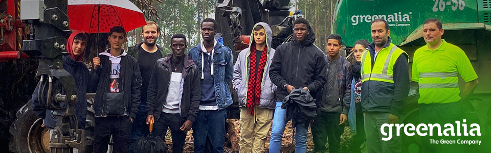 YOUNG PEOPLE MENTORED BY IGAXES VISIT OUR FORESTRY OPERATIONS AND BIOMASS PLANT